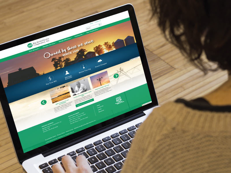 New Web Design for Big Bend Electric Cooperative